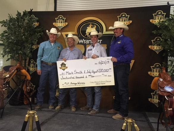 Congratulations to Jody Higgins for Winning the 2019 Wrangler BFI Team Roping Competition